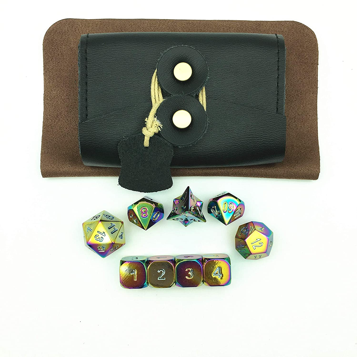 Amazon.com : Amatolo Solid Metal Polyhedral Dice Dungeons Dragons ...