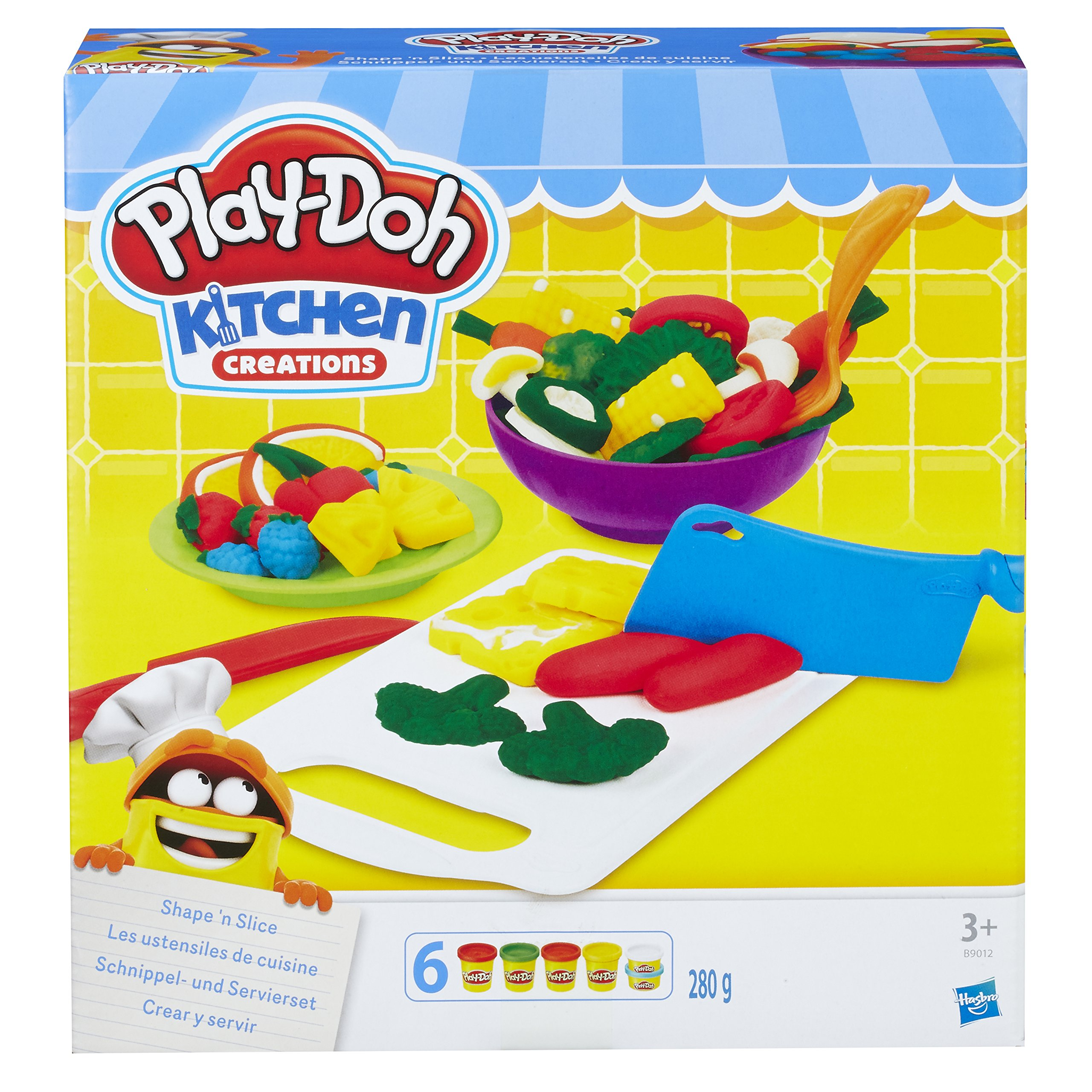 Play-Doh B9012EU40 Kitchen Creations Shape N Slice Play Set by Play-Doh