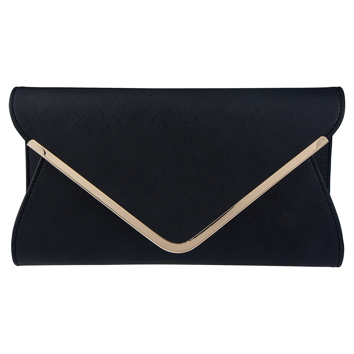7ece0e1f83bfb Amazon.com: Bagood Leather Envelope Clutches Bag for Women Evening Handbags  Shoulder Bags: Shoes
