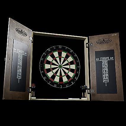 amazon com barrington woodhaven premium bristle dartboard cabinet