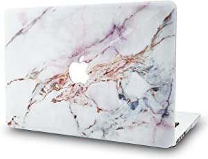 "KECC Laptop Case for MacBook Pro 13"" (2020/2019/2018/2017/2016) Plastic Hard Shell Cover A2289/A2251/A2159/A1989/A1706/A1708 Touch Bar (White Marble 4)"