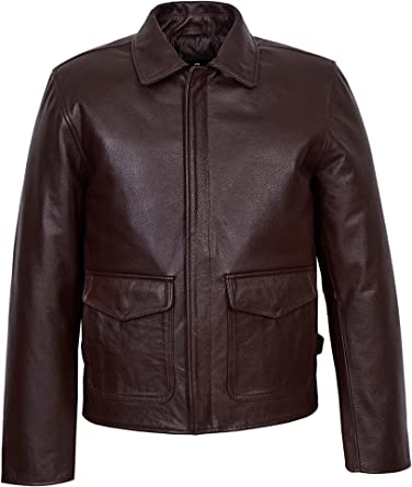 Indiana Jones Harrison Ford Classic Genuine Cow Hide Distressed Leather Jacket