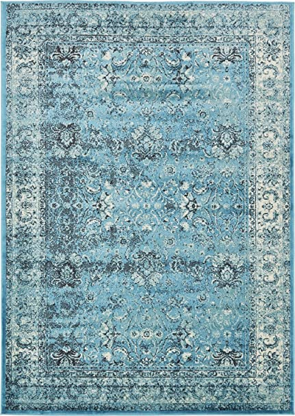 Free Shipping Rug Overdyed Turkish Rug Turquoise Overdyed Area Rug 7 Ft X 10 Ft Antiques