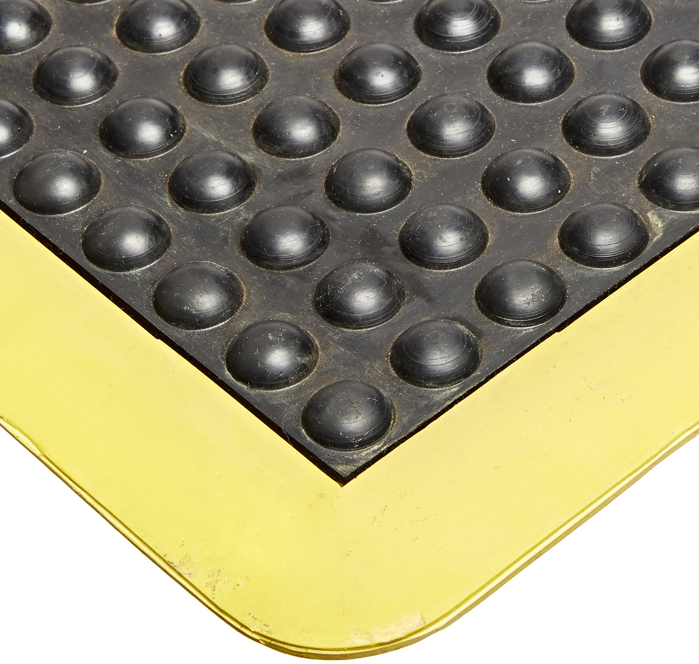 Rhino Mats UD2436SY Ultra-Dome Workstation Anti-Fatigue Welding Mat, 2' Width x 3' Length x 3/4'' Thickness, Black/Yellow