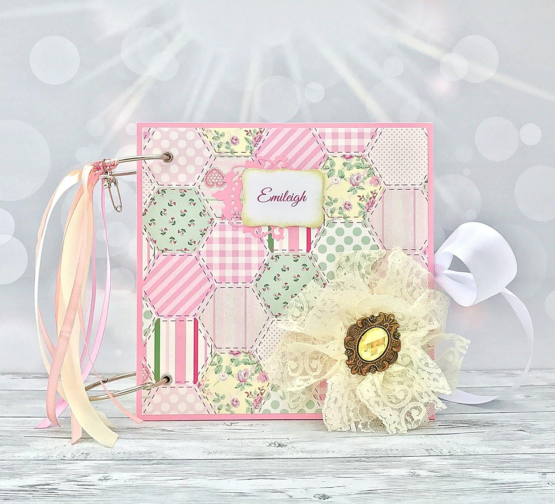 Amazoncom Kristabella Creations 8x8 Baby Girl Scrapbook Album