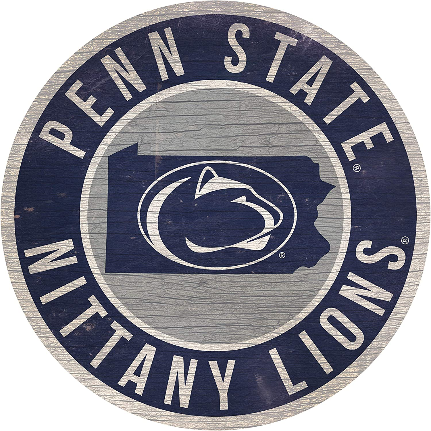 Penn State Nittany Lions Wood Sign Home Sweet Home 6x12 by Fan Creations