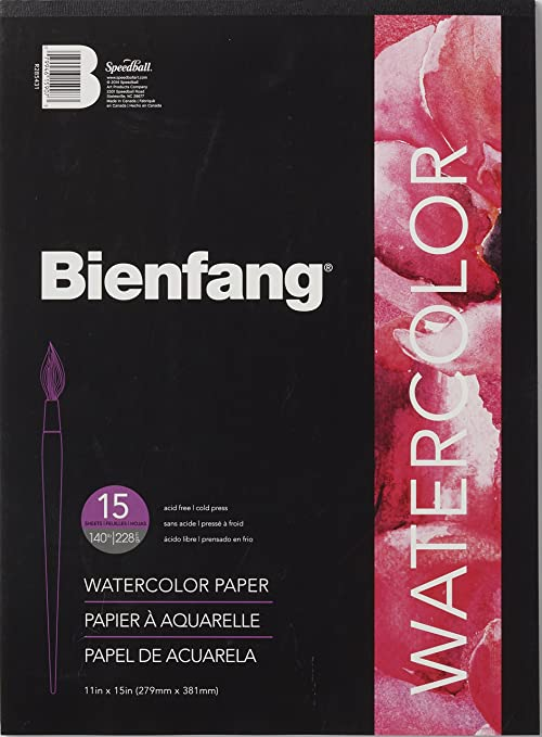 Bee Paper Cold Press 90 Pound Watercolor Paper Pad 11-Inch by 15