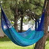 NOVICA Nylon Green and Bright Blue Striped Rope