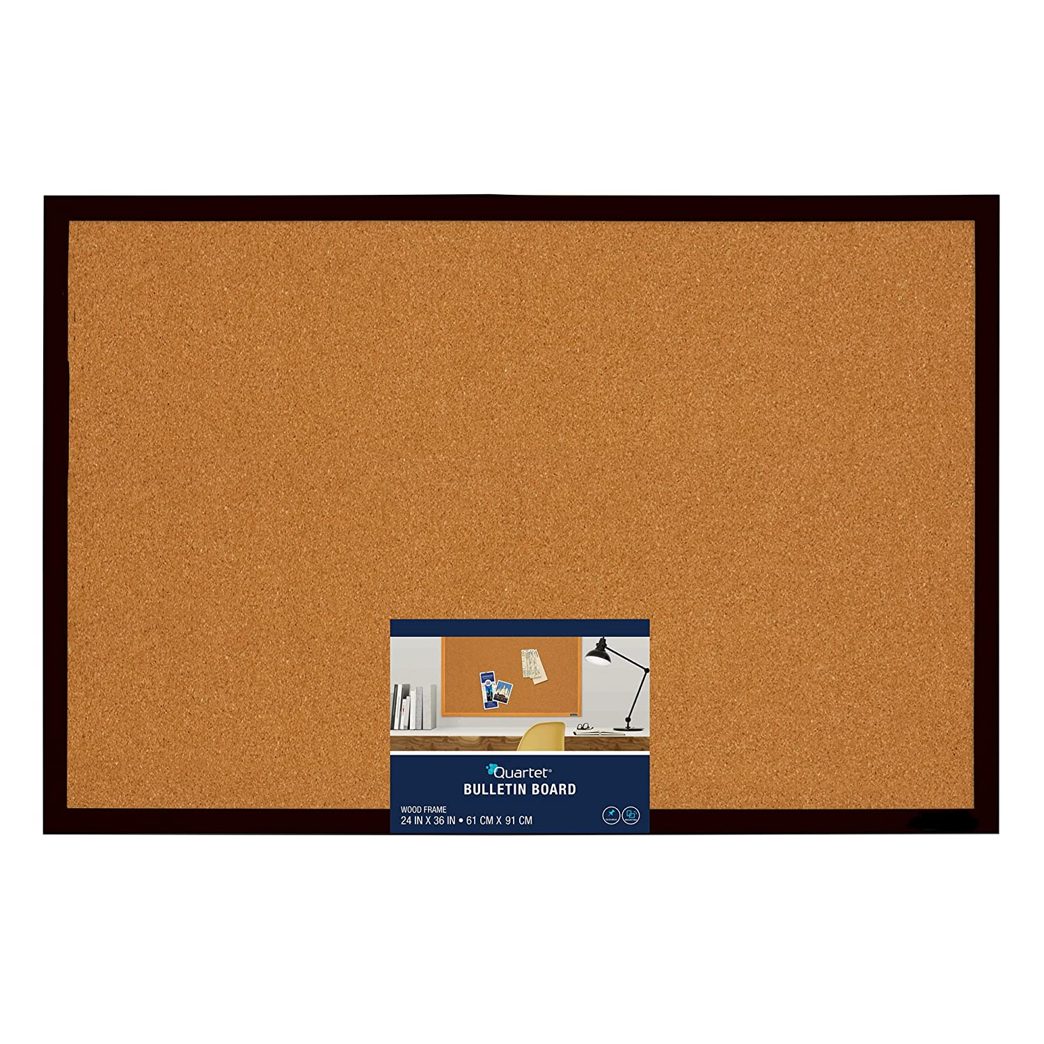 Uncategorized Cork Board No Frame amazon com quartet bulletin board cork 2 x 3 black frame mwdb2436 bk office products