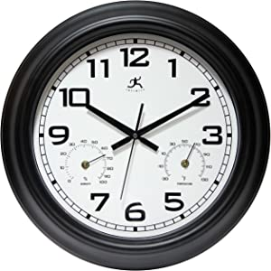 "Infinity Instruments Garden 18"" Metal Outdoor Clock"