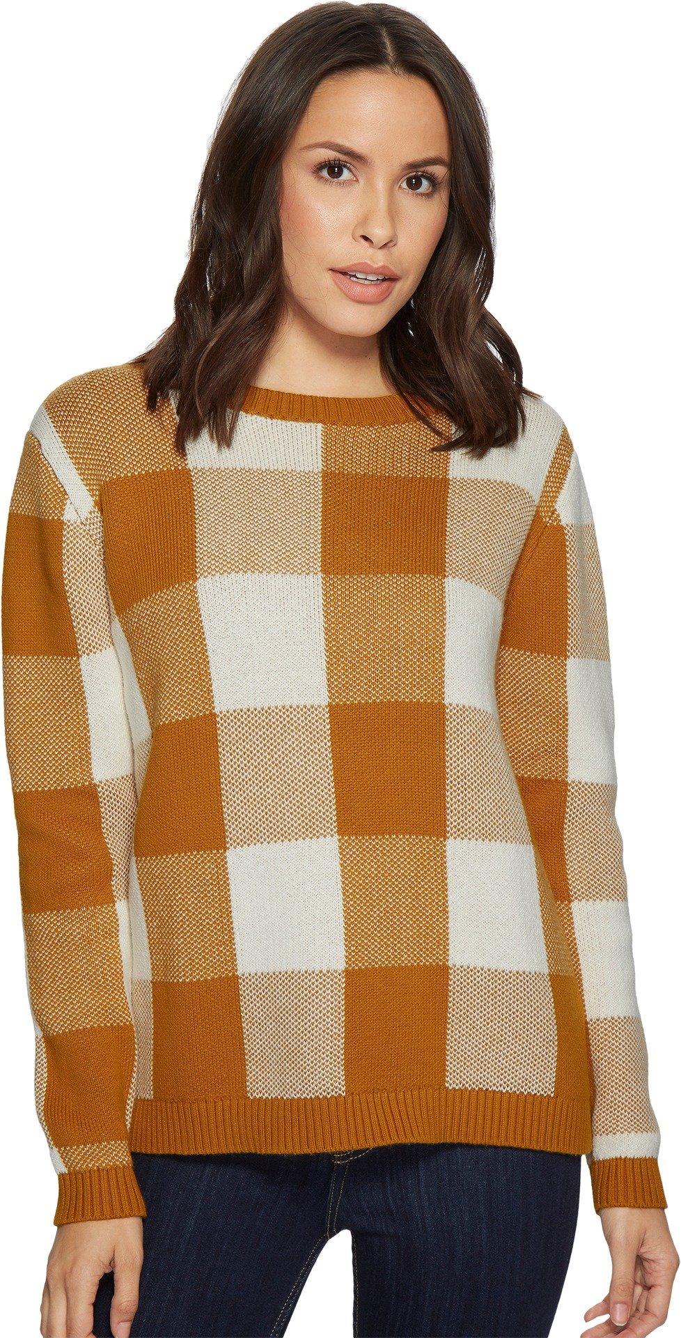 Pendleton Women's Block Plaid Pullover buckthorn Brown Check Large