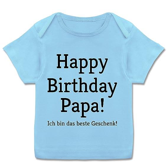 208991bbd46340 Anlässe Baby - Happy Birthday Papa Kurzarm Baby-Shirt für Jungen und  Mädchen  Shirtracer  Amazon.de  Bekleidung