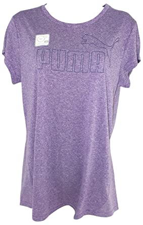 Amazon.com: Puma Ladies ESS Logo Short Sleeve Tee (S, Purple Heather):  Clothing