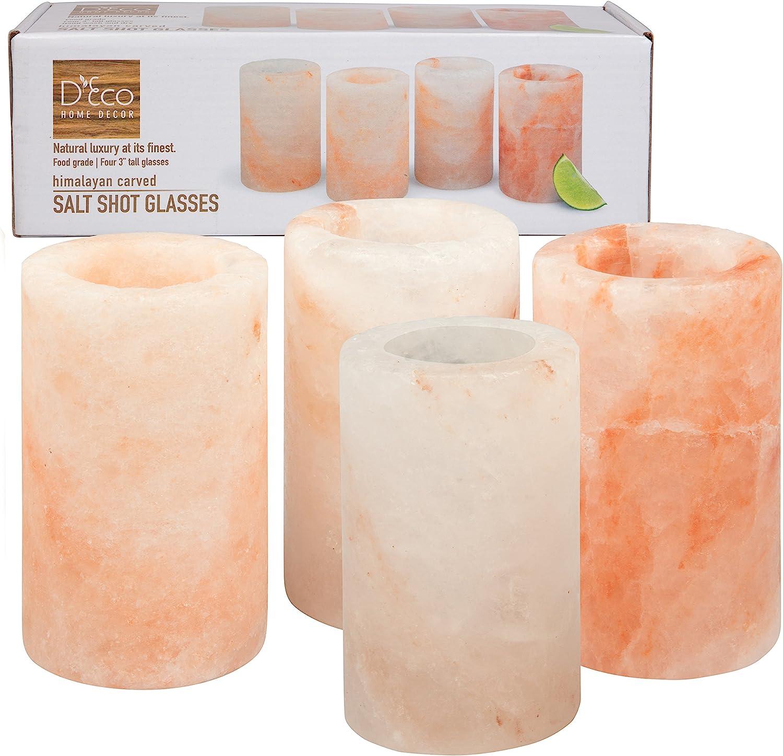 Approuv/é par la FDA Rose Lunettes de sel SEL DE LHimalaya Lot de 4/verres /à shot
