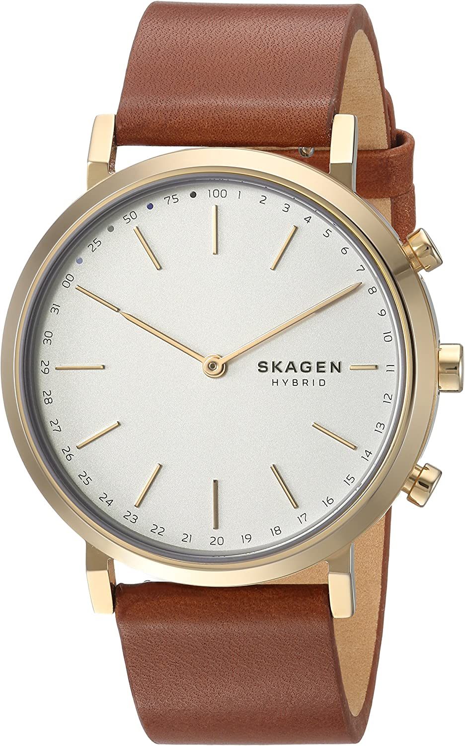 Skagen Womens Hybrid Smartwatch - Hald Brown Leather SKT1206