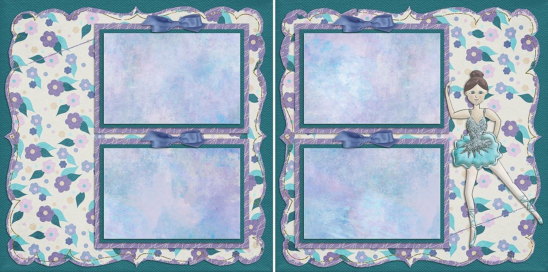 5 Double Page Layouts Dance Scrapbook Set