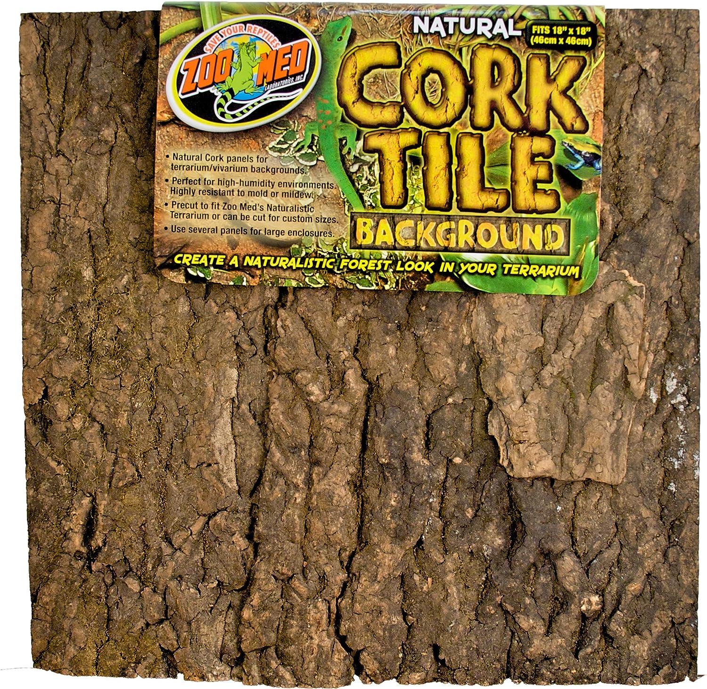 B0019J1VPY Zoo Med Natural Cork Tile Background, 18 x 18-Inches 91yigclnIsL