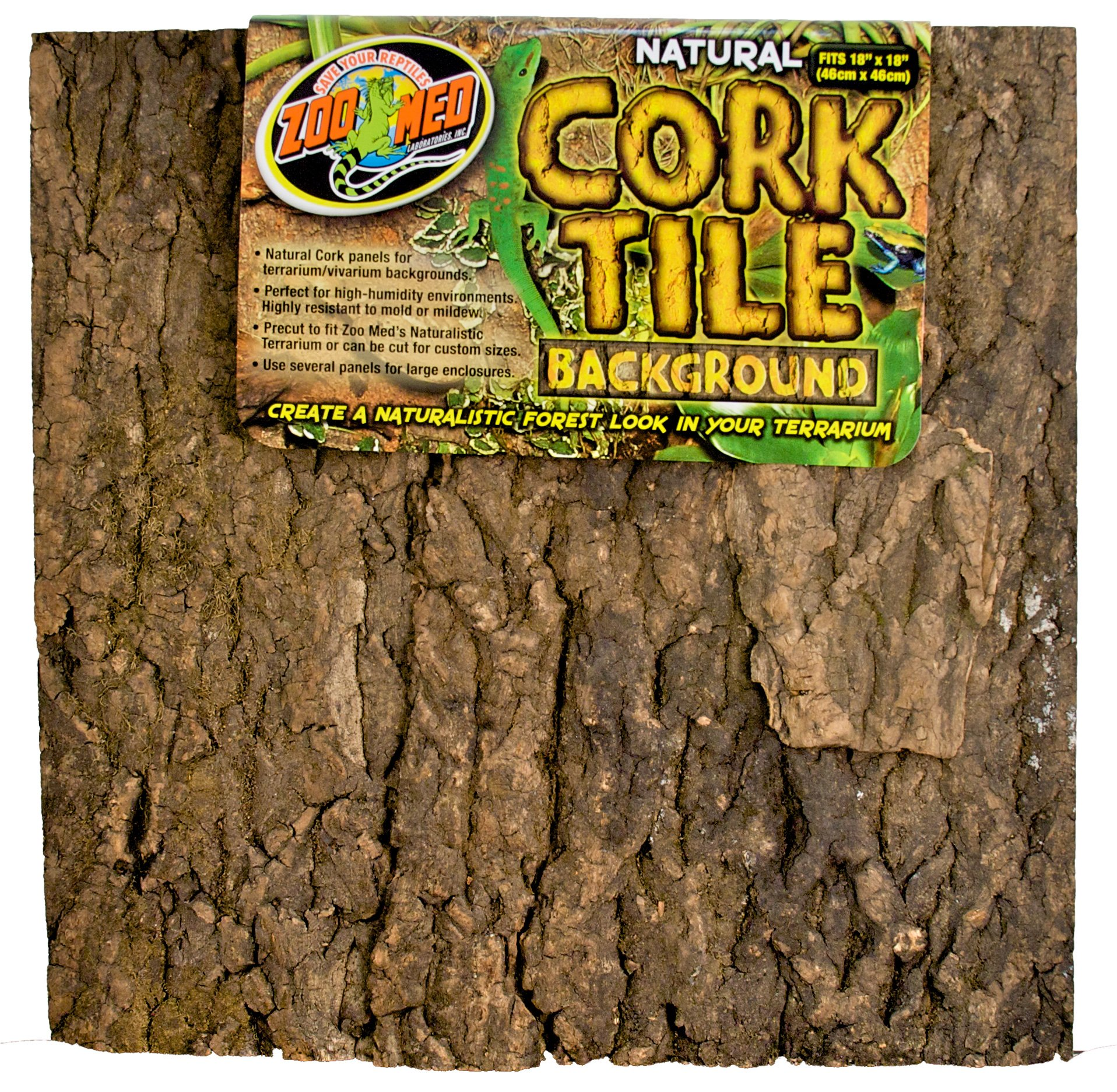 Zoo Med Natural Cork Tile Background, 18 x 18-Inches by Zoo Med