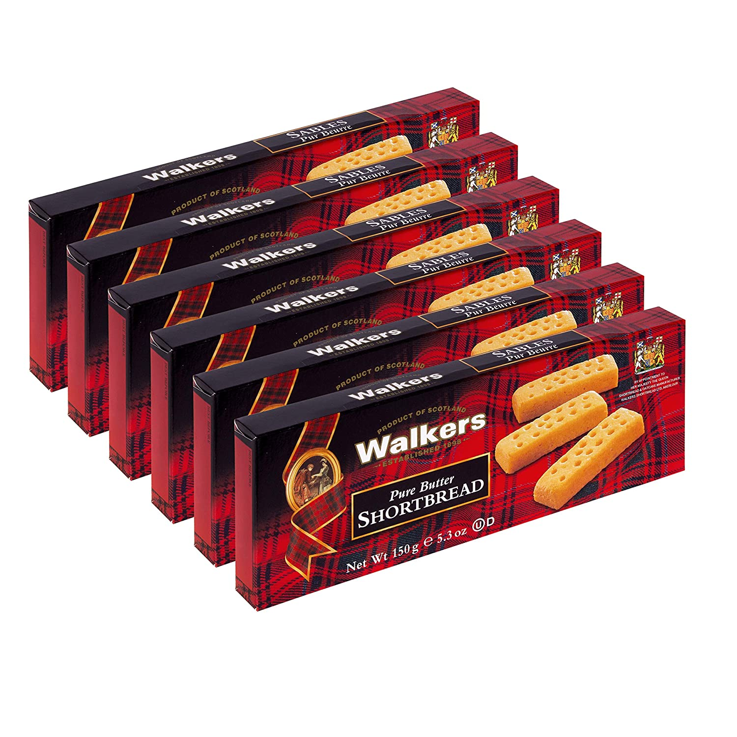 B001EO5Z4W Walkers Shortbread Fingers, 5.3 Ounces (Pack of 6) 91yiiJEOT6L