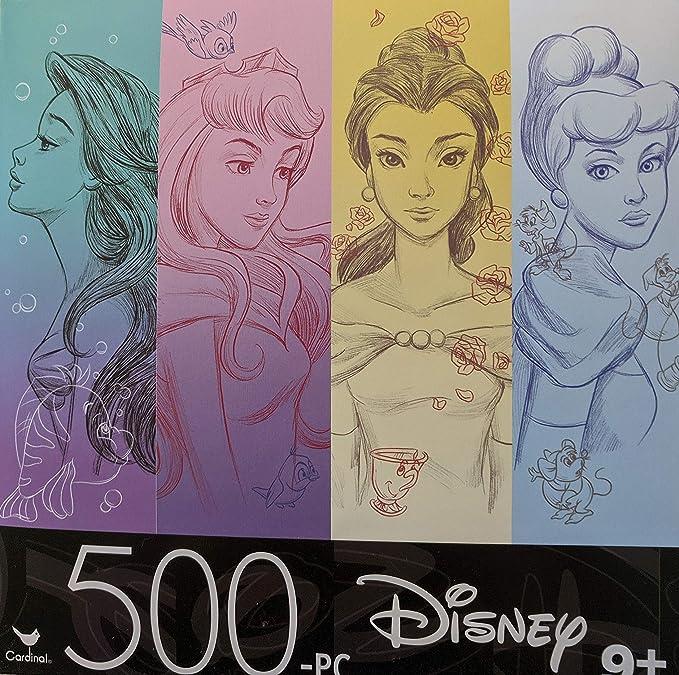 NEW Lot of 2 Disney Cinderella Princess 500 Pieces Jigsaw Puzzle Adult /& Kids