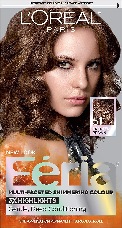 LOréal Paris (public) Préférence Feria 51 Marrón coloración del cabello - Coloración del cabello (Marrón, Bronzed Brown, SHIMMERING CONDITIONING ...