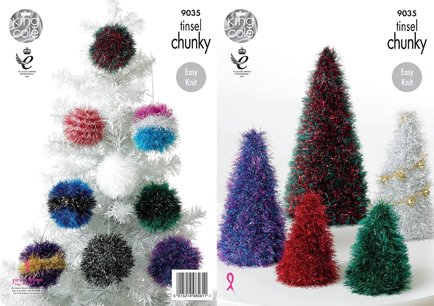 King cole 9035 knitting pattern tinsel christmas trees and baubles king cole 9035 knitting pattern tinsel christmas trees and baubles to knit in tinsel chunky amazon toys games bankloansurffo Images