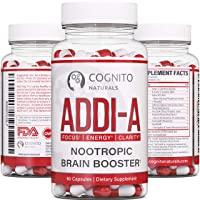 ADDI-A Adderall Style Nootropic Brain Booster | 100% Natural Nootropics to Boost...