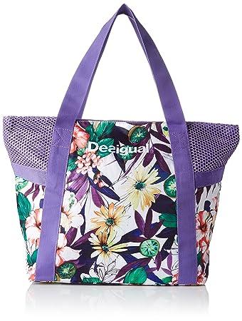 Bols Damen Schultertasche 13x34x45 cm (B x H x T), Violett (3168 Purple Opulence) Desigual