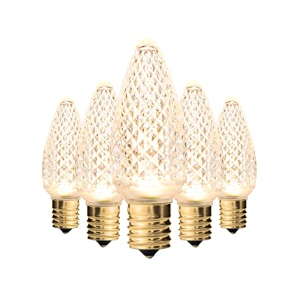 Holiday Lighting Outlet Faceted C9 Christmas Lights Sun Warm White Led Light Bulbs Holiday Decoration Warm Christmas Decor For Indoor Outdoor