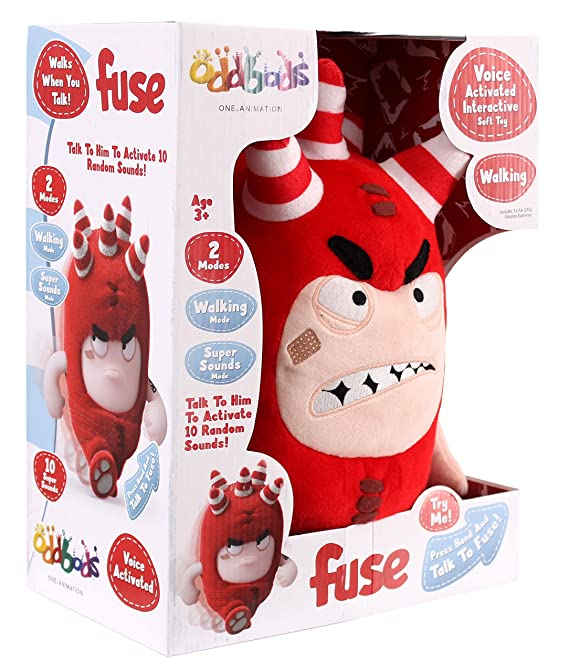 Amazon.com: Golden Bear Oddbods Voice Activated Interactive Soft Toy FUSE (Dispatched From UK): Toys & Games