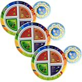 """Fresh Baby Kid's 5-Section My Plate (3 Pack), 7"""", Multicolor"""