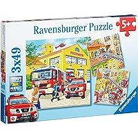 Ravensburger Fire Brigade Run Puzzle 3x49pc,Children's Puzzles