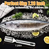GiniHome Fish Scaler Brush,Fish Scaler Remover with Stainless Steel Sawtooth,Ergonomic Handle Design - Easily Remove Fish Scales-Cleaning Brush Scraper Kitchen Tool
