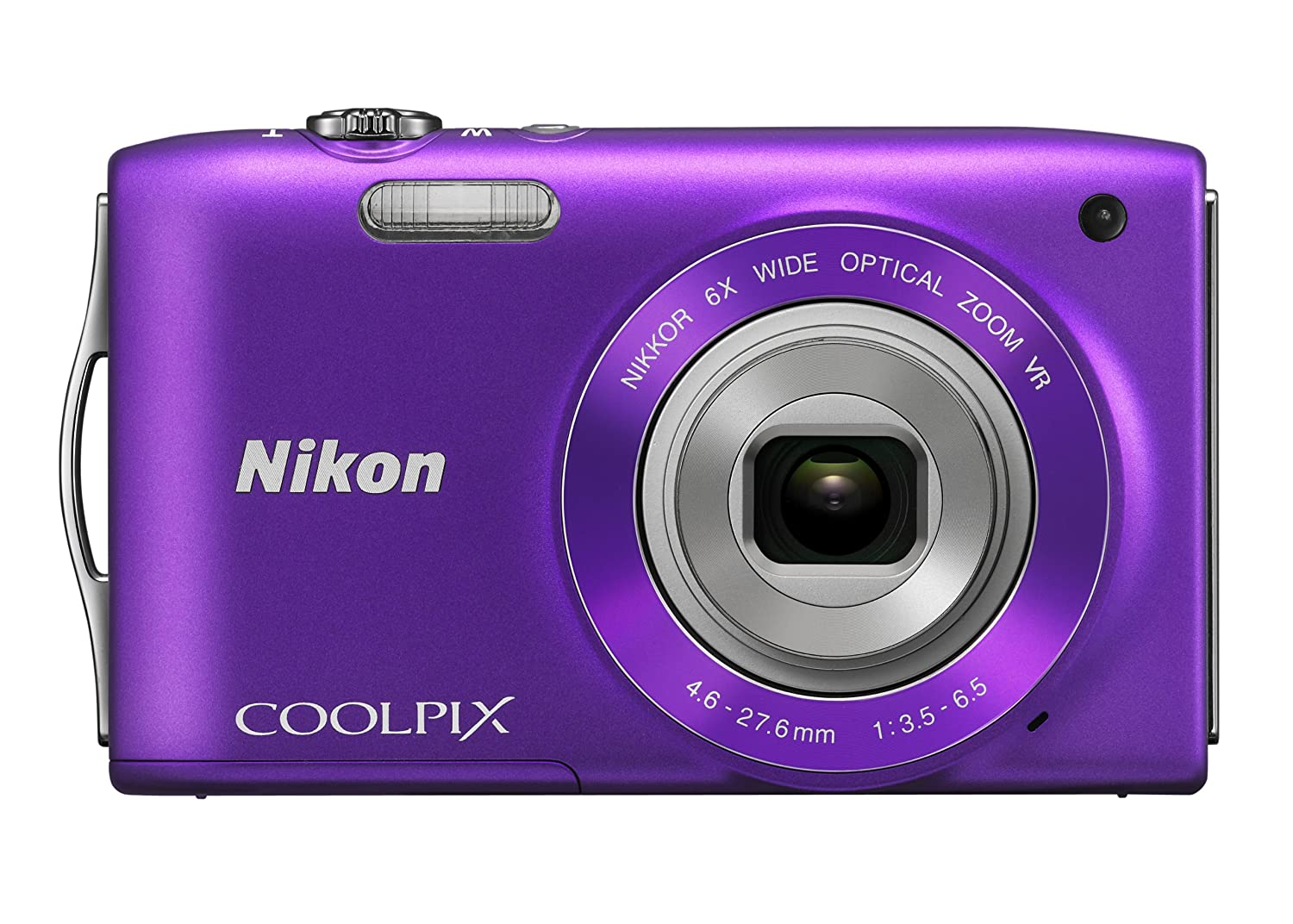 Amazon.com : Nikon COOLPIX S3300 16 MP Digital Camera with 6x Zoom NIKKOR  Glass Lens and 2.7-inch LCD (Purple) : Point And Shoot Digital Cameras :  Camera & ...