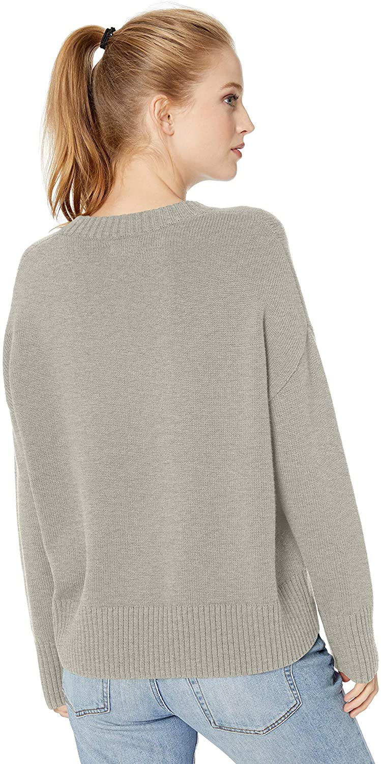 Brand Daily Ritual Womens 100/% Cotton Chunky Long-Sleeve Crew Pullover Sweater