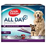 Simple Solution 6-Layer Scented Premium Dog Pads, Absorbs Up to 10 Cups of Liquid