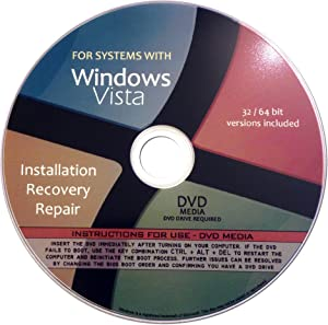 Windows Vista Home Premium 64 Bit Reinstall and Recovery