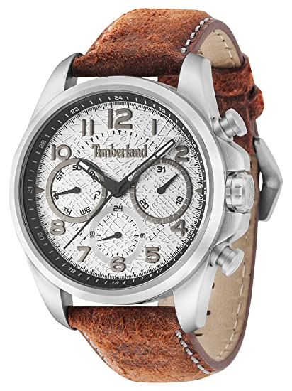 Timberland Reloj Analogico para Hombre de Cuarzo con Correa en Piel 14769JS/13: Amazon.es: Relojes