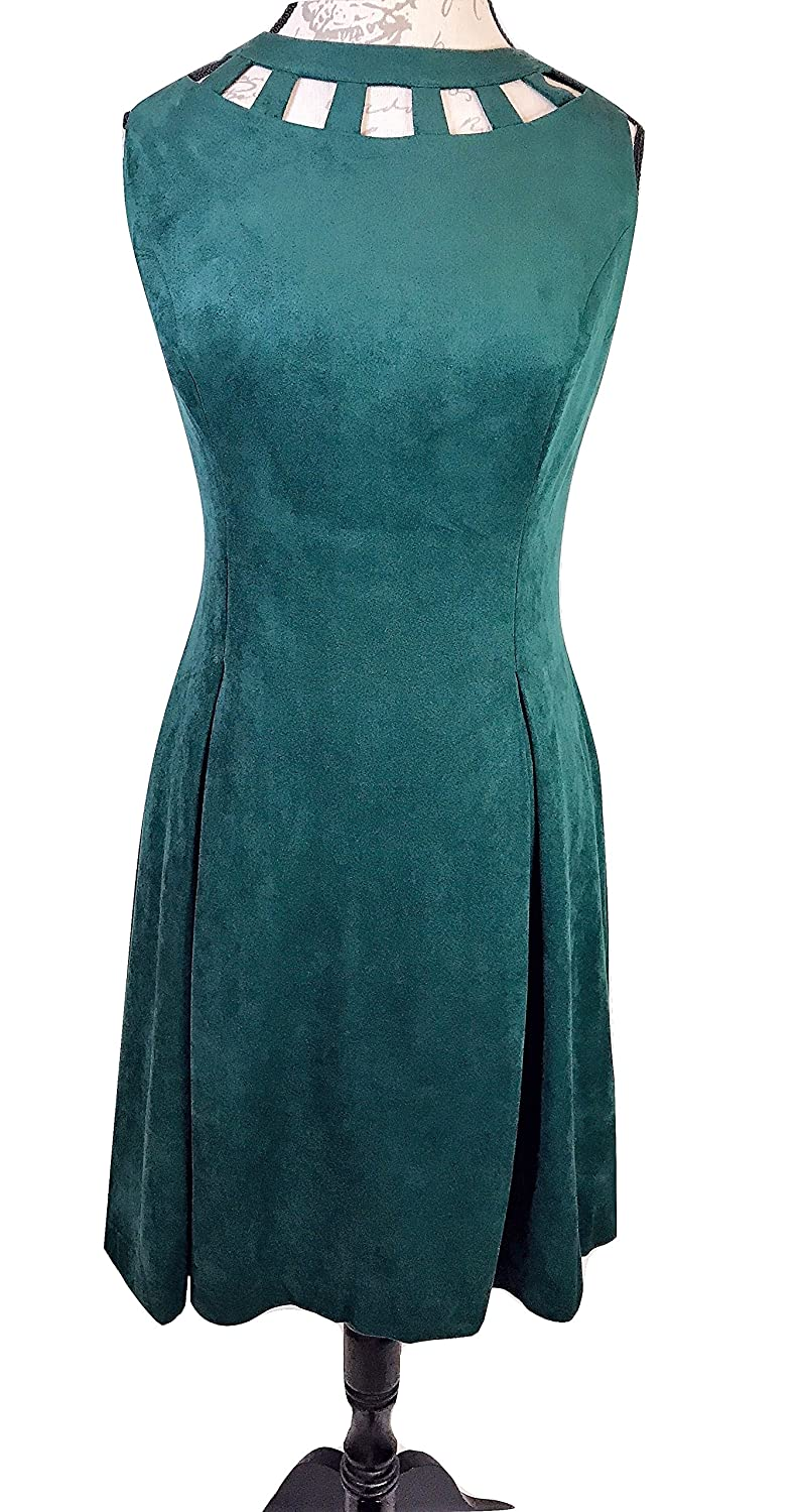 9c1dcff15e4 Eliza J Women s Girl s Dress Green Cutout Neckline Size 12 Dress Nordstrom  at Amazon Women s Clothing store