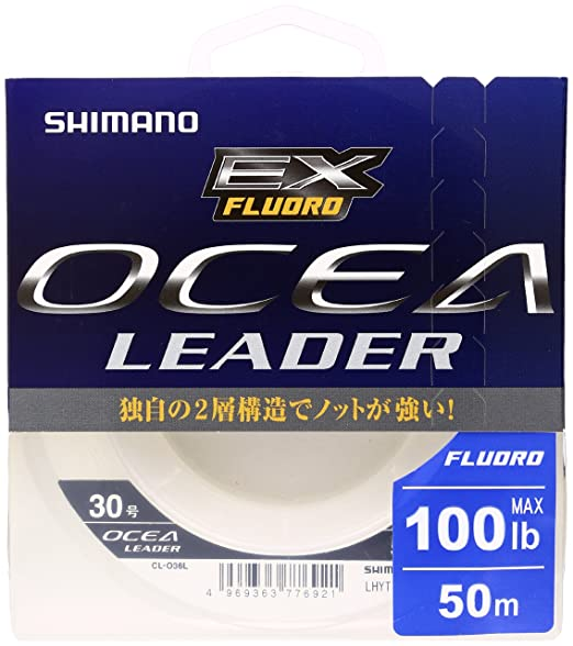 シマノ オシアリーダーEXフロロ 50m30号100lbクリアCL-O36Lの画像