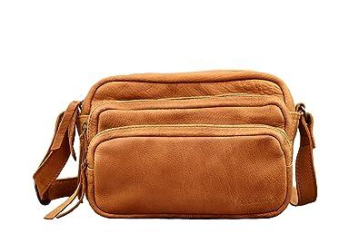 LE GAVROCHE Sable petit sac bandoulière en cuir de buffle pleine fleur style Vintage PAUL MARIUS RKkT3lKL