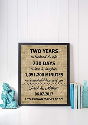 Amazon Com Second Anniversary Gift Ideas 2 Years Anniversary Gift For Him Cotton Anniversary For Gift For Wife Two Years Anniversary Gift For Her Frame Not Included Handmade