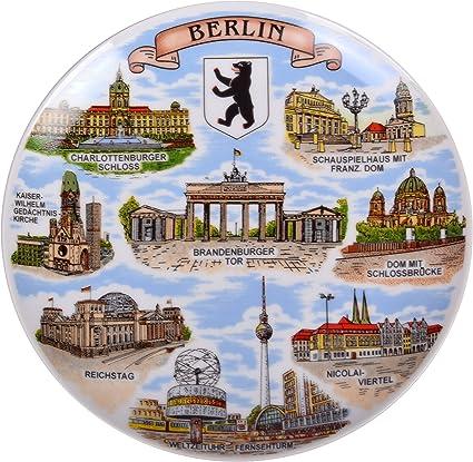 Berlin Dom Reichstag Brandenburger Tor Reichstag Souvenir Wandteller Teller