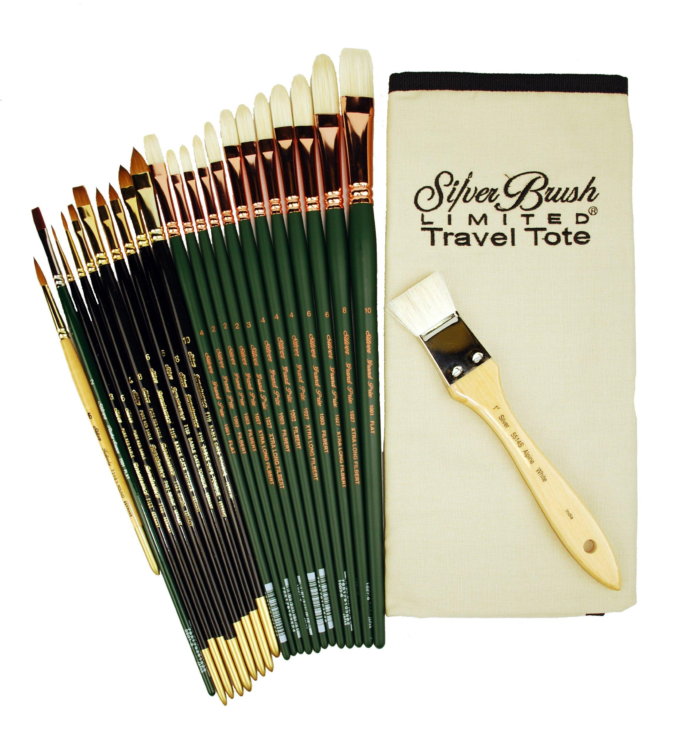 Silver Brush TN-1070 Thomas V. Nash Portrait Deluxe Set, 24 Per Pack