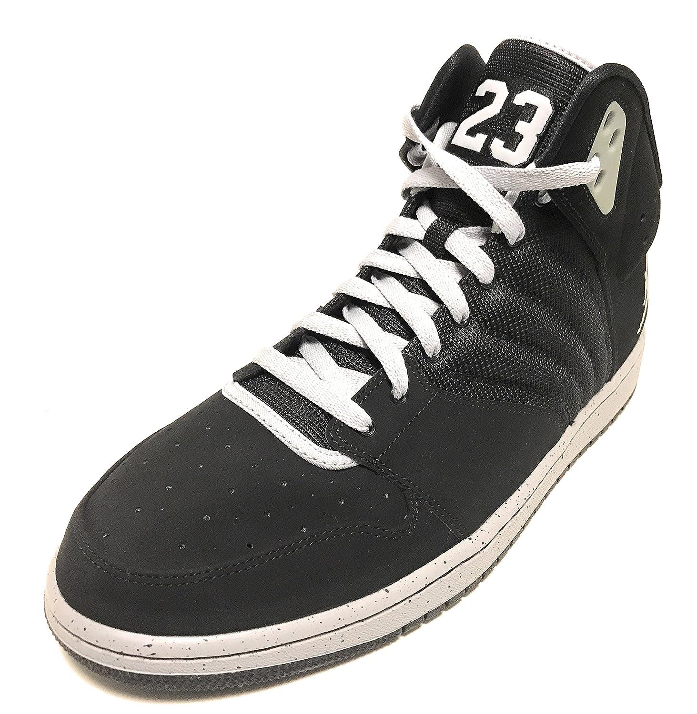big sale 9b700 038c6 Amazon.com   Air Jordan 1 Flight 4 Premium Black Wolf Grey-White Shoes  838818-003 Size 13   Basketball
