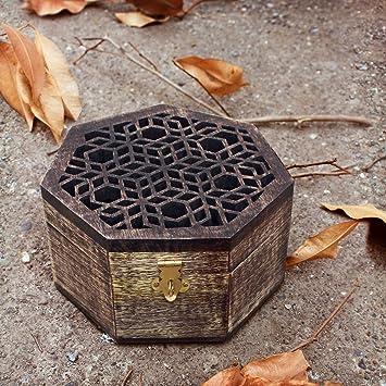 regalos del dia de padre, Bellamente tallado mano de madera caja de recuerdos joyer?a Pecho Organizador Ideas ?nicas del regalo para los hombres y las ...