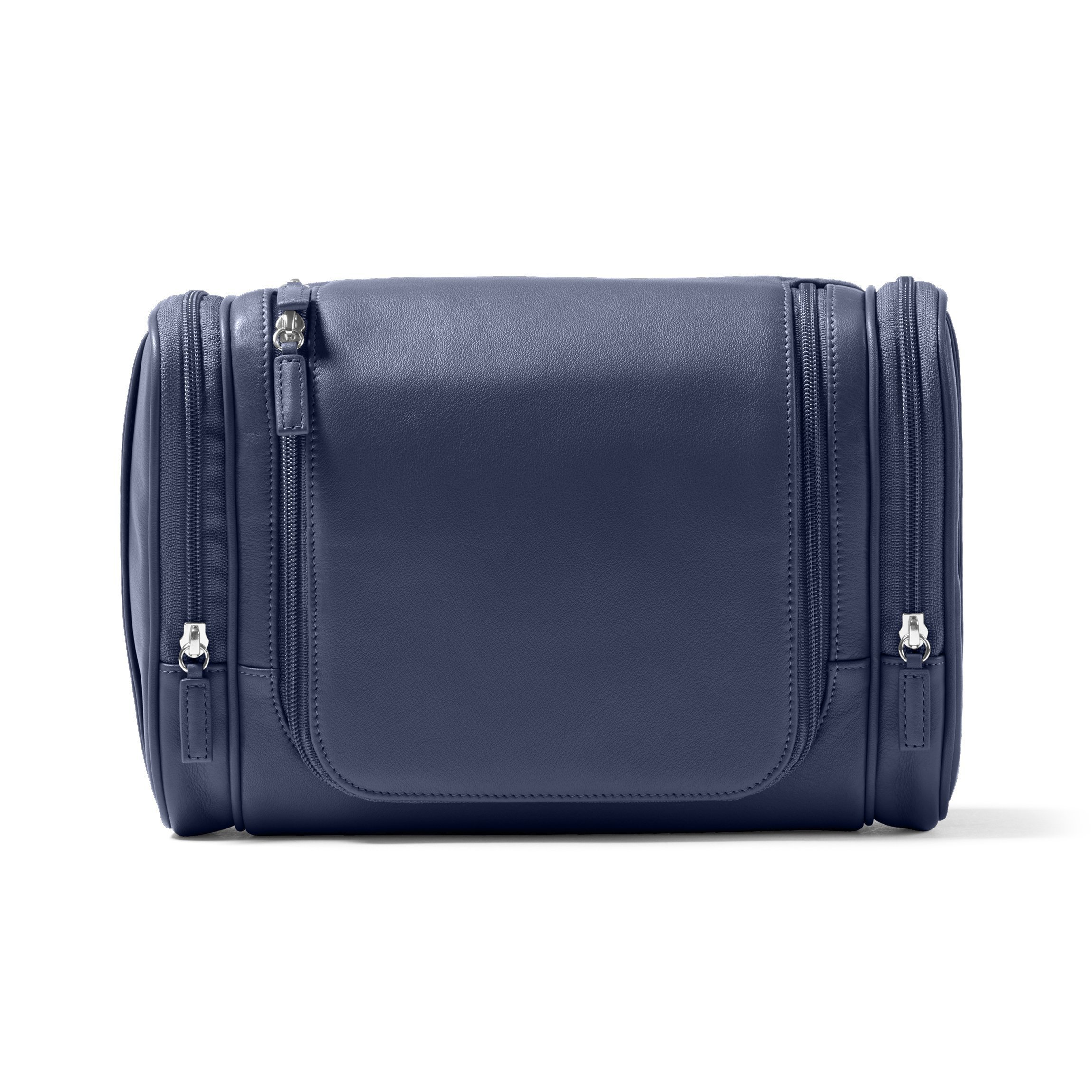 Leatherology Multi Pocket Hanging Toiletry - Full Grain Leather - Navy (blue)