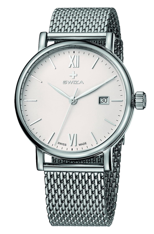 SWIZA Alza Edelstahl-Mesh-Band Luxus Uhr - Mehrfarbig - 316 Liter