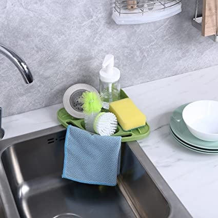 kitchen sink caddy sponge holder scratcher holder cleaning brush holder sink organizer - Kitchen Sponge Holder