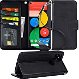 Arae Case for Google Pixel 5 PU Leather Wallet Case Cover [Stand Feature] with Wrist Strap and [4-Slots] ID&Credit Cards…